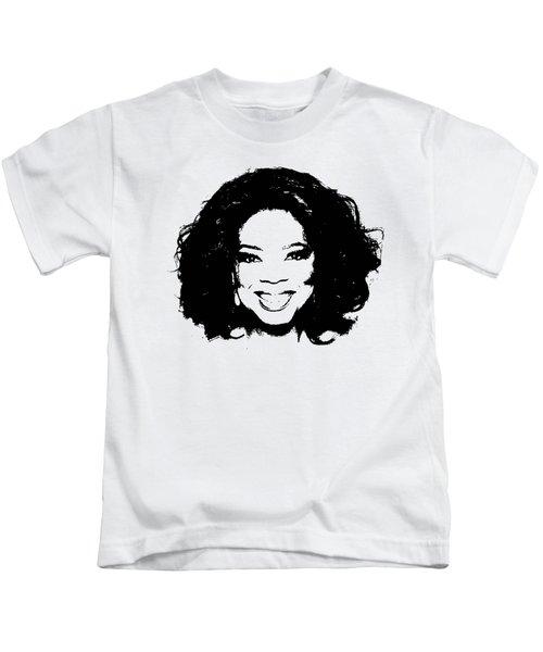 Oprah Minimalistic Pop Art Kids T-Shirt