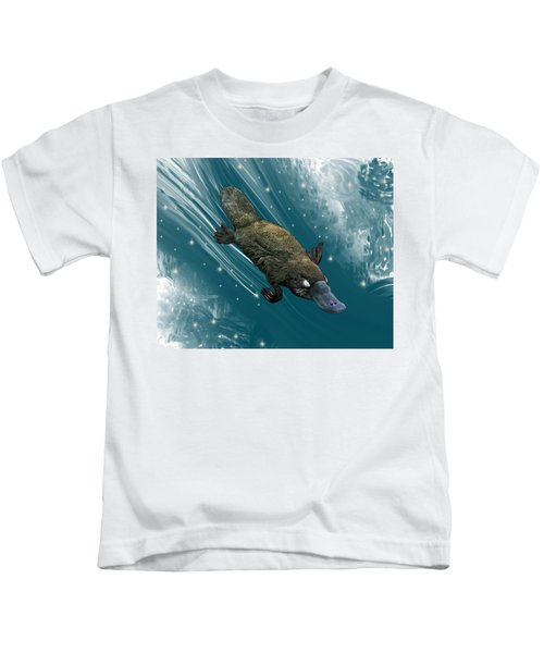 P Is For Platypus Kids T-Shirt