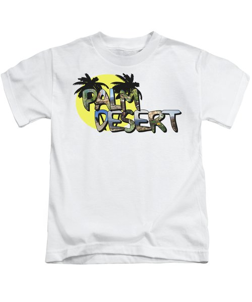 Palm Desert Large Letter With Moon Kids T-Shirt