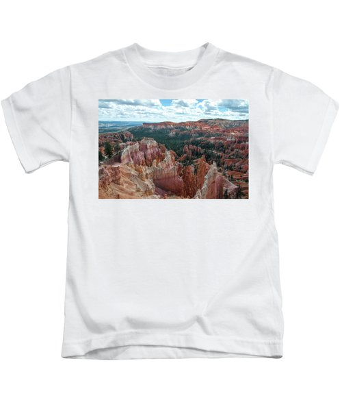 Panorama  From The Rim, Bryce Canyon  Kids T-Shirt