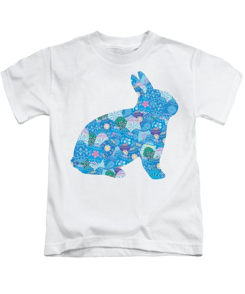 Patchwork Bunny Rabbit Kids T-Shirt