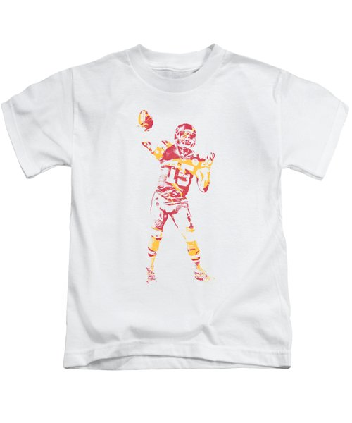 Patrick Mahomes Kansas City Chiefs Apparel T Shirt Pixel Art 2 Kids T-Shirt