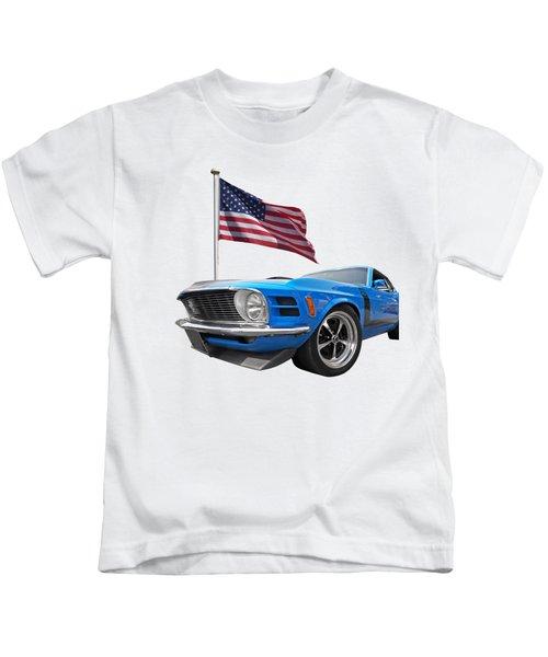 Patriotic Boss Mustang Kids T-Shirt