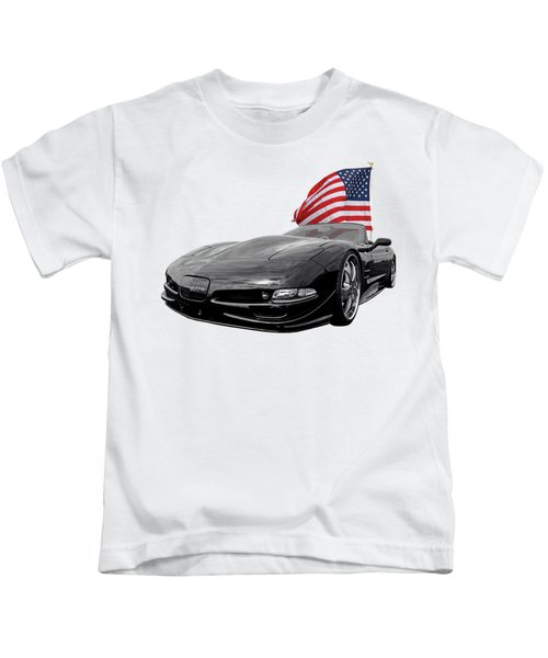 Patriotic Corvette C5 Kids T-Shirt