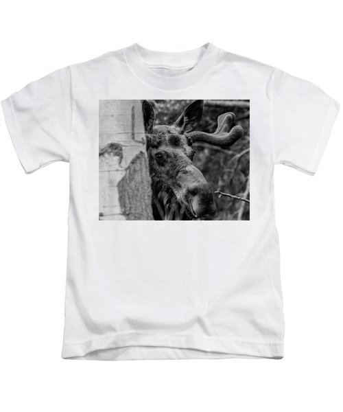 Peek-a-moose Kids T-Shirt