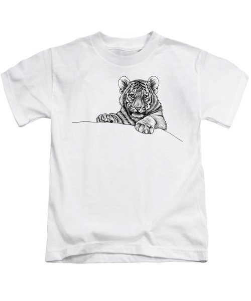 Peeking Tiger Cub Kids T-Shirt