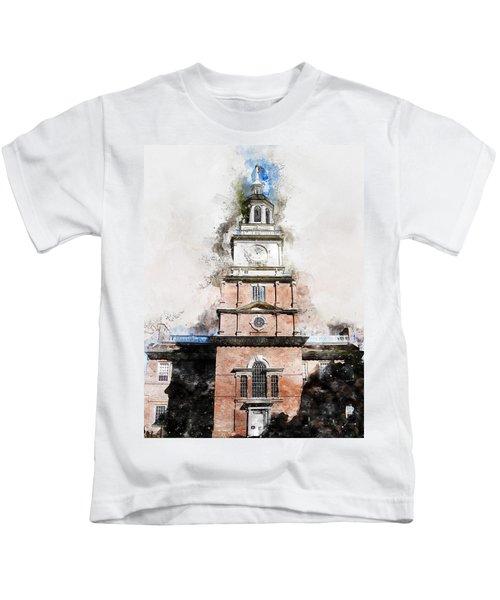 Philadelphia Independence Hall - 01 Kids T-Shirt