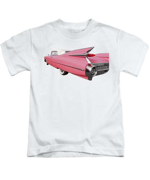 Pink Cadillac Tail Fins At Sunset Kids T-Shirt
