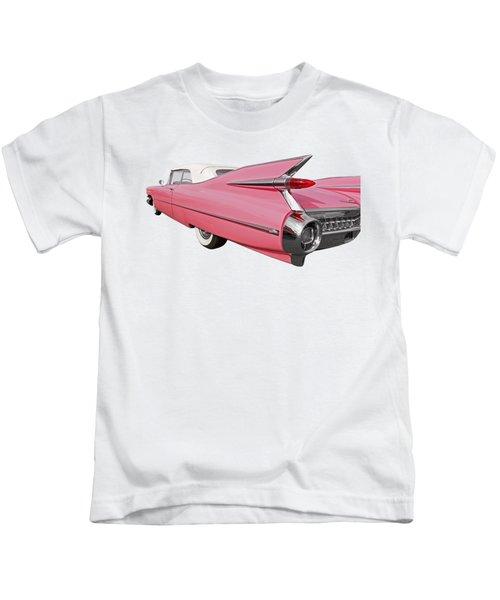 Pink Cadillac Tail Fins At Sunset Kids T-Shirt