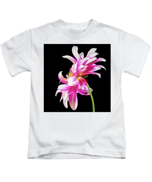 Pink Dahlia Profile Kids T-Shirt