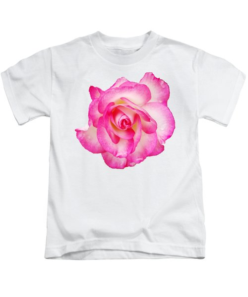 Pink Halo Rose Kids T-Shirt