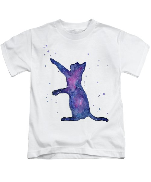 Playful Galactic Cat Kids T-Shirt