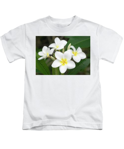 Pleasing Plumeria Kids T-Shirt