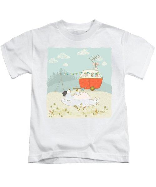 Polar Bear Vacation II Kids T-Shirt