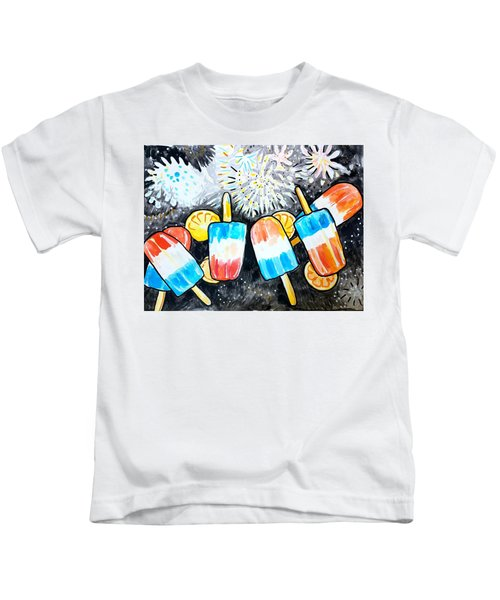 Popsicles And Fireworks Kids T-Shirt