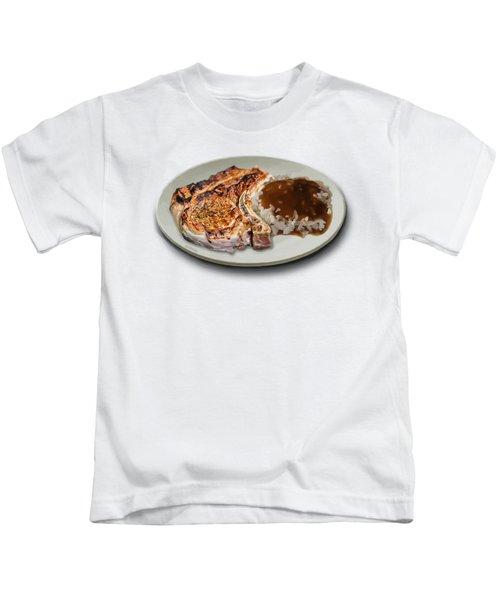 Pork Chop And Rice Kids T-Shirt