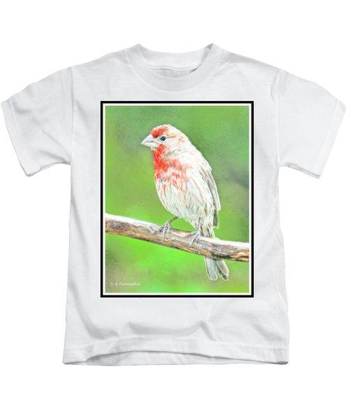Purple Finch, Animal Portrait Kids T-Shirt