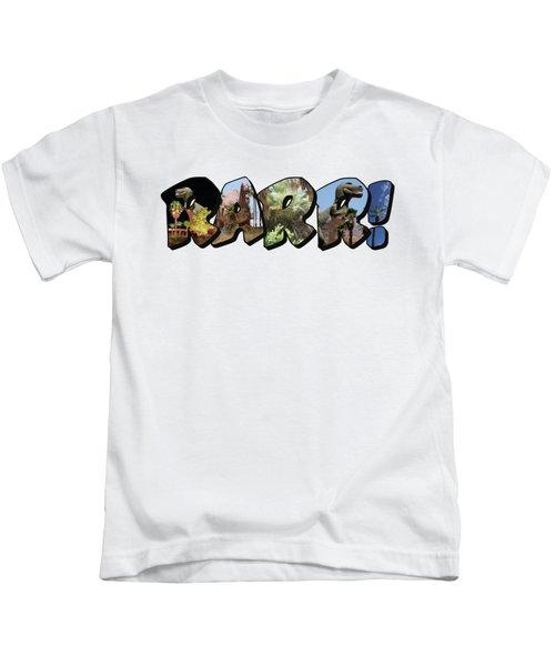 Rarr Big Letter Dinosaurs Kids T-Shirt