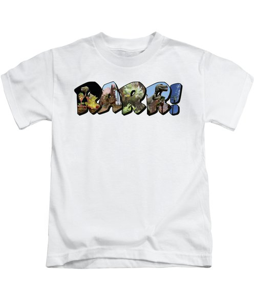 Rarr Big Letter Dinosaurs Kids T-Shirt
