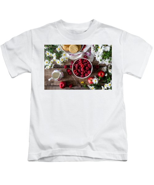 Raspberry Breakfast Kids T-Shirt