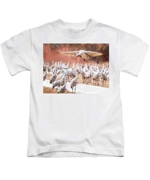 Ready Or Not, Here I Come -- Sandhill Cranes Kids T-Shirt
