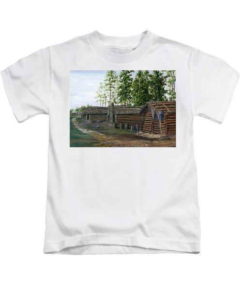 Rebel Huts, Port Hudson, Louisiana 1863 Kids T-Shirt
