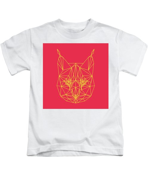 Red Bobcat Kids T-Shirt