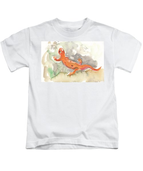 Red Eft Kids T-Shirt