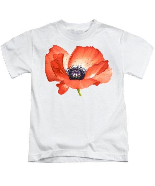 Red Poppy Flower, Image For Prints On Tshirt Kids T-Shirt