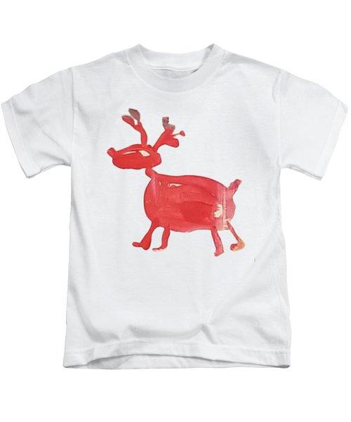 Red Reindeer Kids T-Shirt