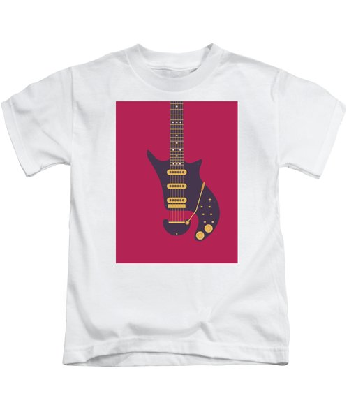 Red Special Guitar - Burgundy Kids T-Shirt