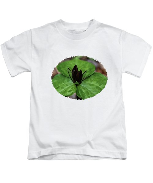 Red Trillium Kids T-Shirt