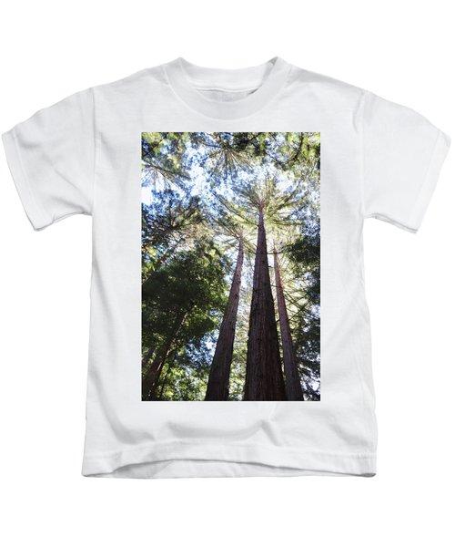 Redwoods, Blue Sky Kids T-Shirt