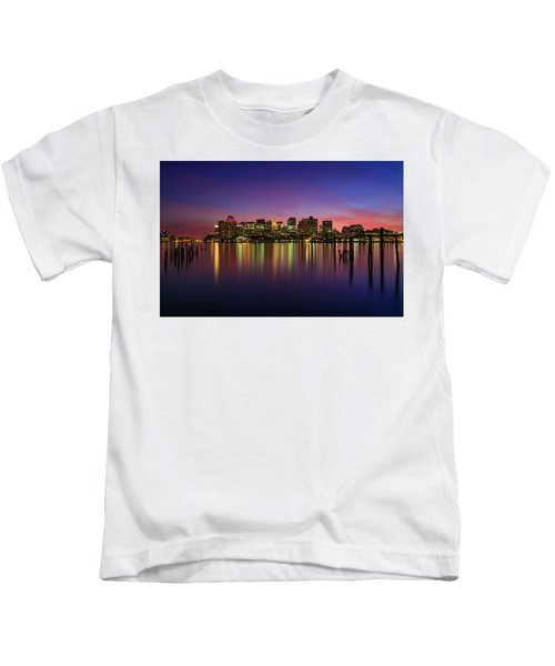 Reflections Of Boston II Kids T-Shirt