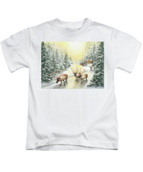 Hoofing It Under The Midnight Sun Kids T-Shirt