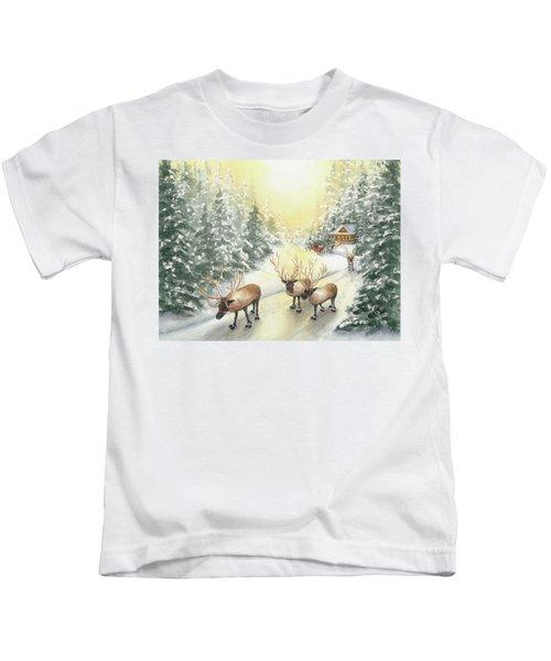 Hoofing It Under The Midnight Sun Kids T-Shirt