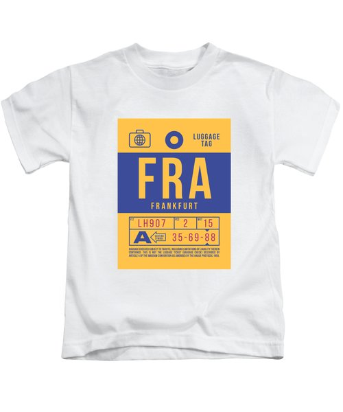 Retro Airline Luggage Tag 2.0 - Fra Frankfurt Germany Kids T-Shirt