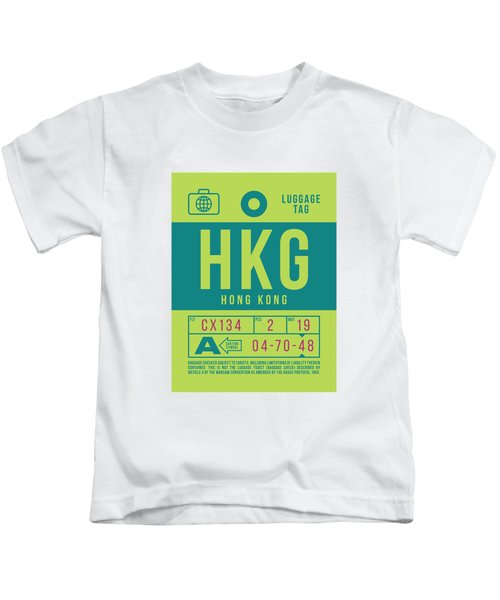 Retro Airline Luggage Tag 2.0 - Hkg Hong Kong Kids T-Shirt