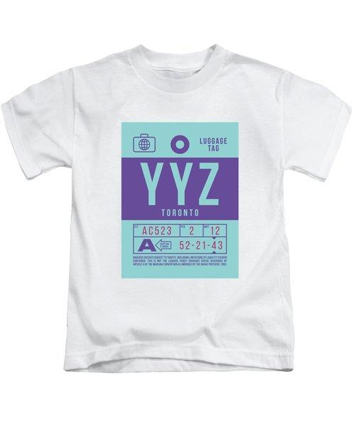 Retro Airline Luggage Tag 2.0 - Yyz Toronto International Airport Canada Kids T-Shirt