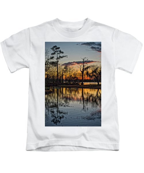Riverside Sunset Kids T-Shirt