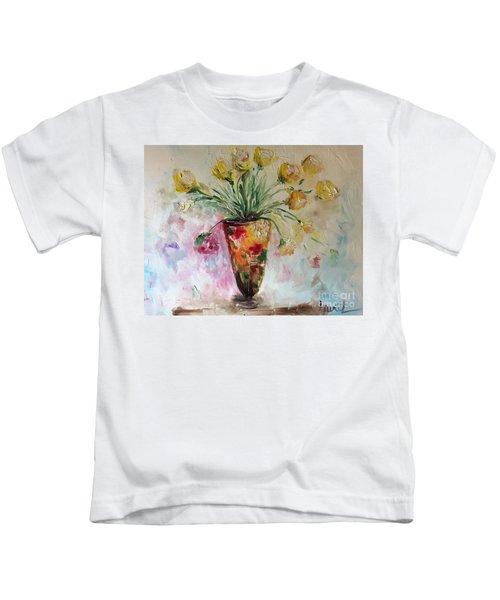 Roses In Vase Kids T-Shirt