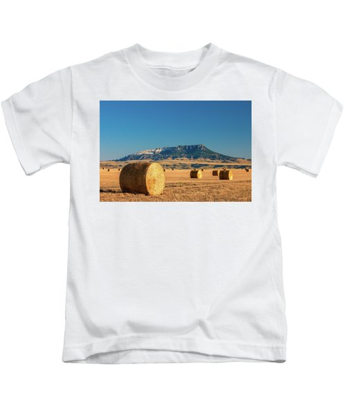Round Bales Square Butte Kids T-Shirt