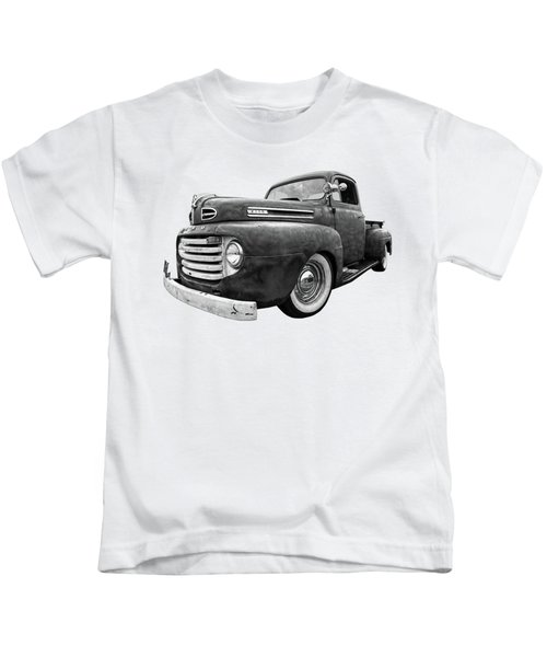 Rusty Jewel In Black And White - 1948 Ford Kids T-Shirt