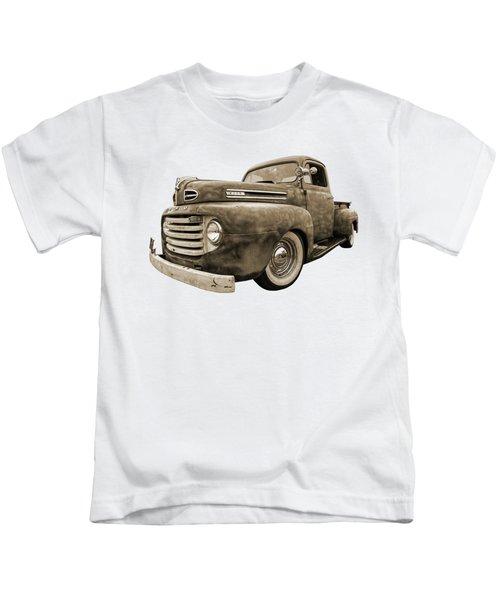 Rusty Jewel In Sepia - 1948 Ford Kids T-Shirt