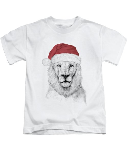 Santa Lion  Kids T-Shirt