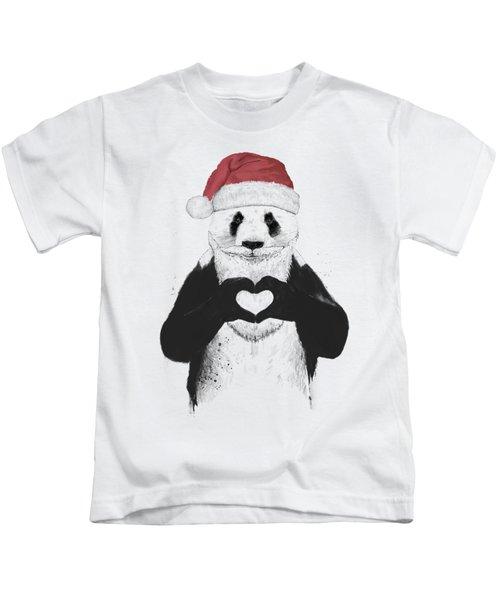 Santa Panda Kids T-Shirt