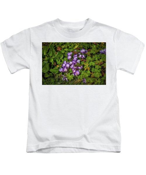 September Crocus #h9 Kids T-Shirt
