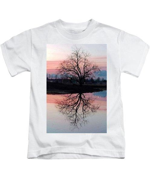 Serenity At Sunset Kids T-Shirt