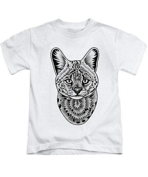 Serval Cat - In Illustration Kids T-Shirt