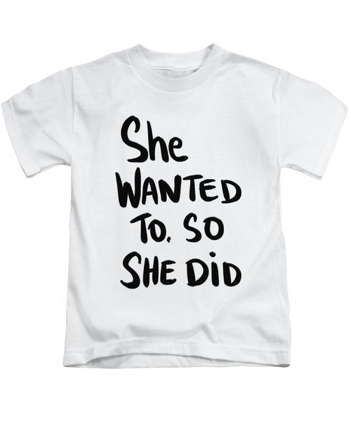 She Wanted To Bold- Art By Linda Woods Kids T-Shirt